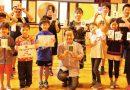 母校・昭和小学校で消しゴムはんこの特別授業